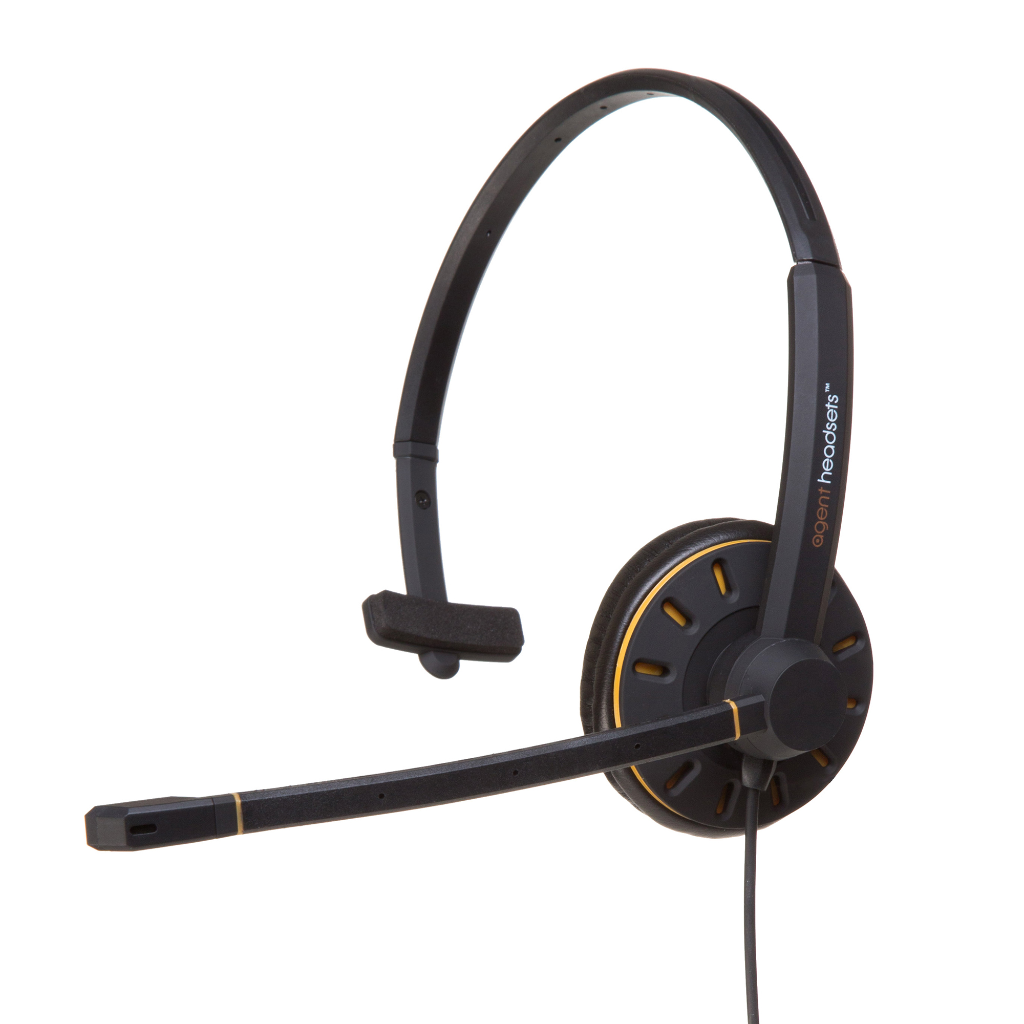 Corded Headsets Agent AU 1 Monaural Noise Cancelling UC USB Headset