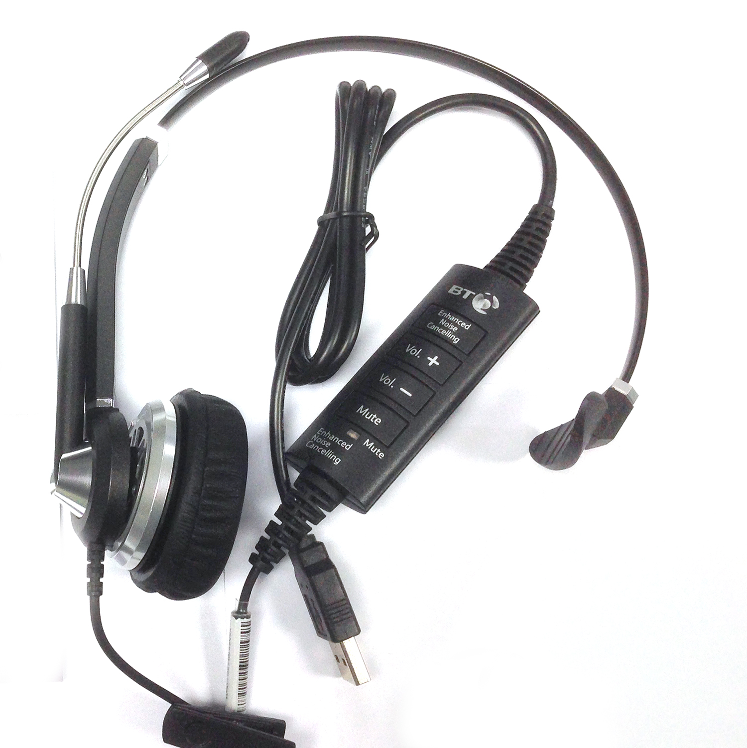 BT H32 Monaural Noise Cancelling USB Headset