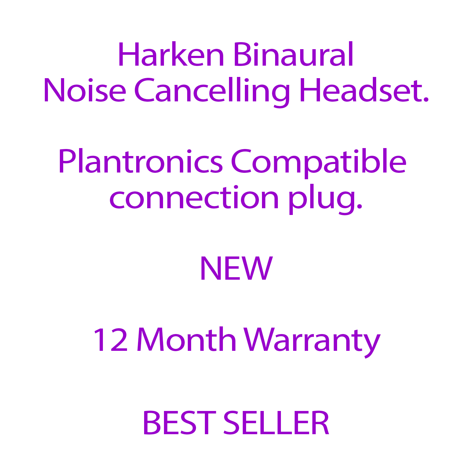 Harken Binaural Noise Cancelling Headset with GN Jabra Compatible Plug