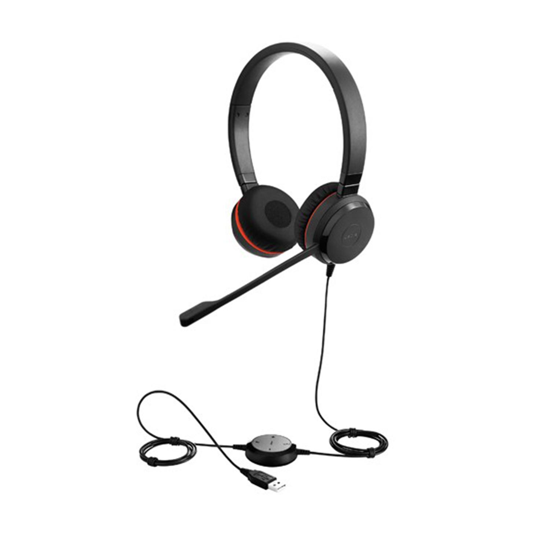 Jabra Evolve 75 Duo Wireless Headset Skype For Business: Corded Headsets: Jabra Evolve 30 II Duo USB And 3.5mm UC