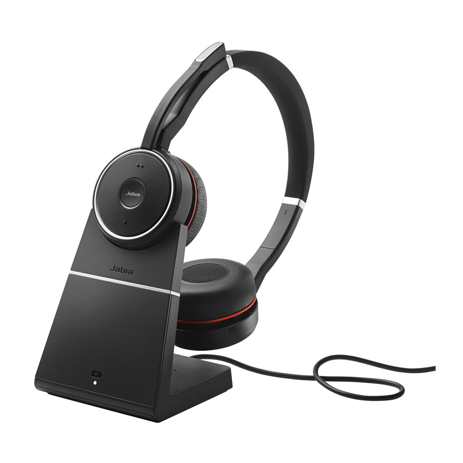Jabra Evolve 75 Duo USB and Bluetooth Wireless UC Headset With Charging Stand