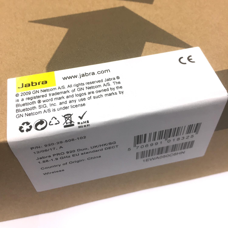 Wireless Headsets Gn Jabra Pro 920 Dect Wireless Headset: Wireless Headsets: GN Jabra Pro 920 Duo DECT Wireless Headset
