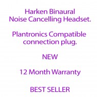Harken Binaural Noise Cancelling Headset with Plantronics Compatible Plug
