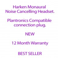 Harken Monaural Noise Cancelling Headset with Plantronics Compatible Plug