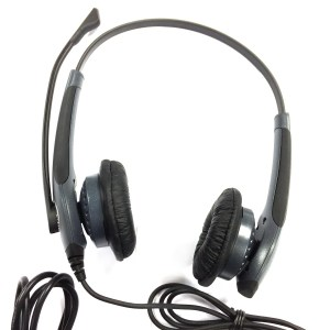 GN Netcom Jabra GN2000 Duo Flex Boom Noise Cancelling USB Headset - Refurbished