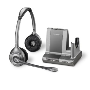 Plantronics Savi Office WO350 Binaural Noise Cancelling Wireless Headset - Refurbished